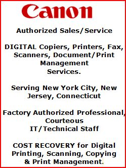 Canon Authorized Sales/Service Provider